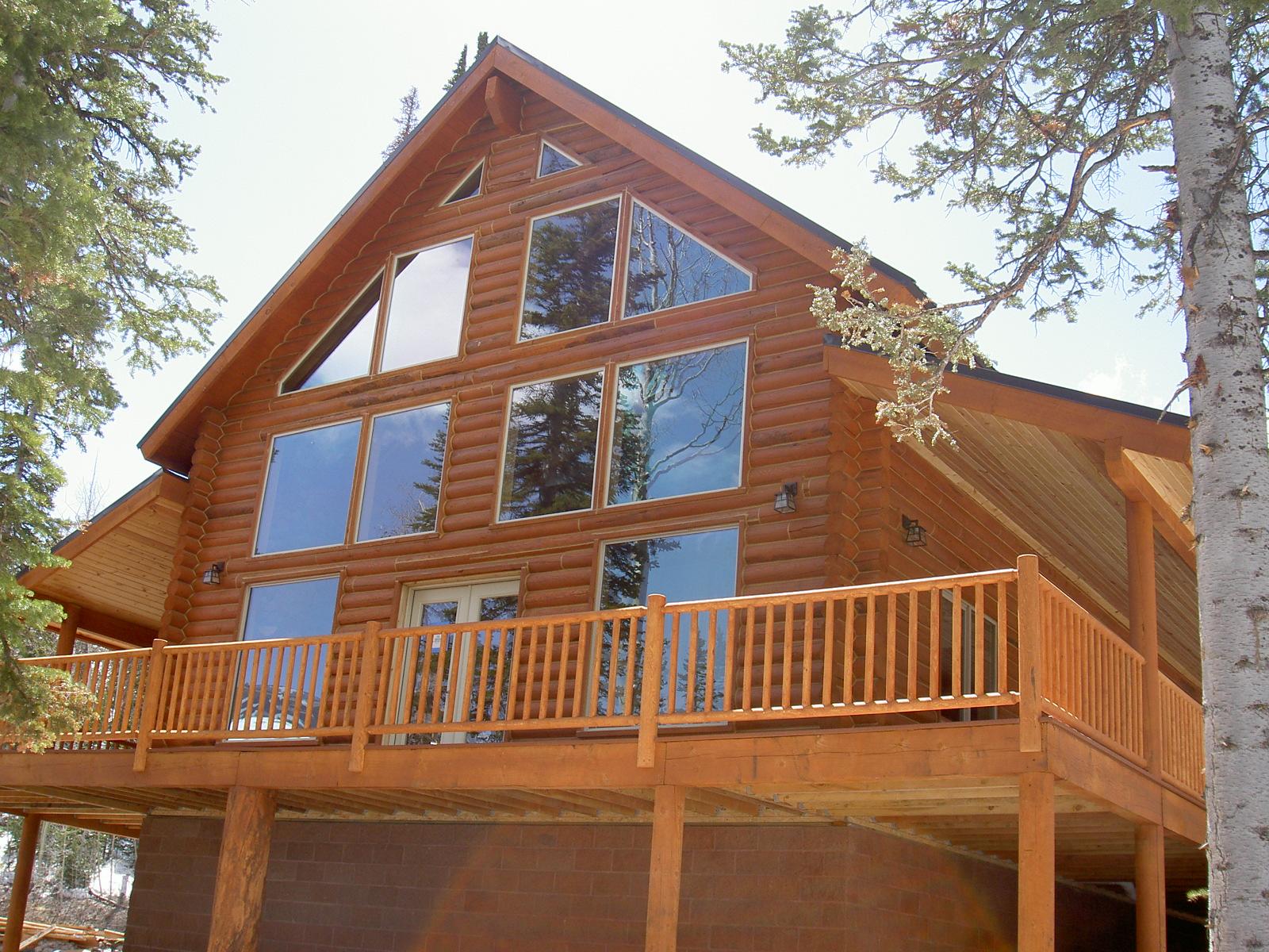 Brian head utah real estate log cabin for sale mls 31557 for Log cabins in utah