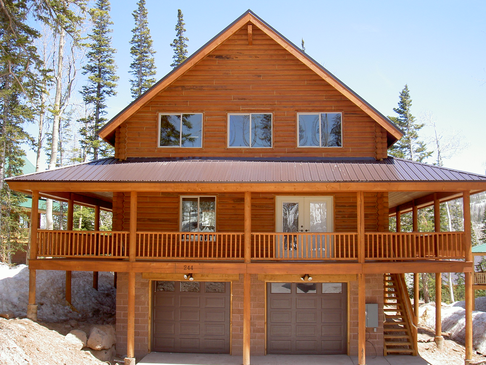 Brian head utah real estate log cabin for sale mls 31557 for Authentic log cabins for sale